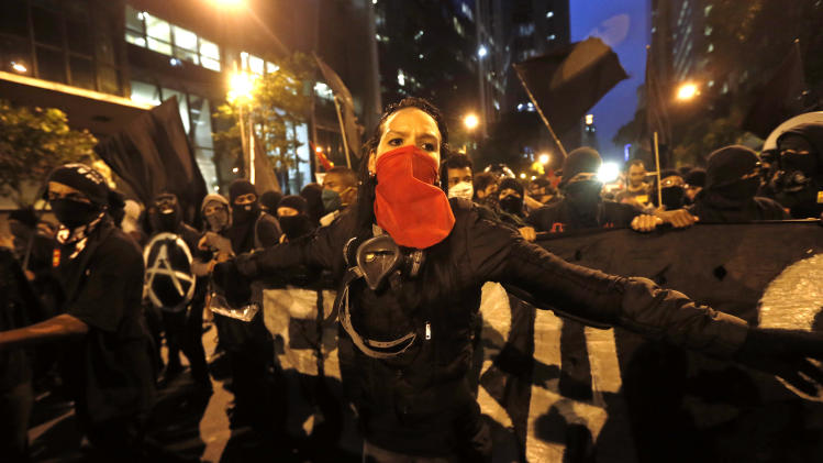 Anarchist tactics grow amid Brazil's protests