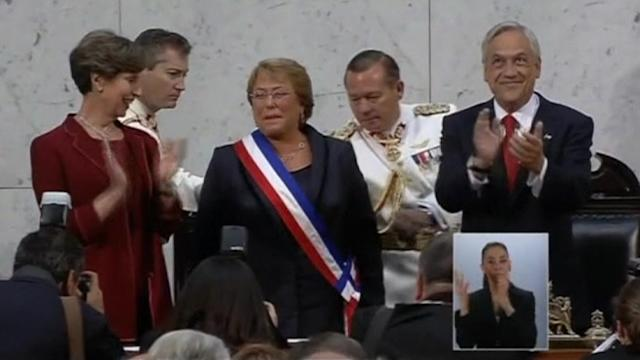 Bachelet takes power in Chile