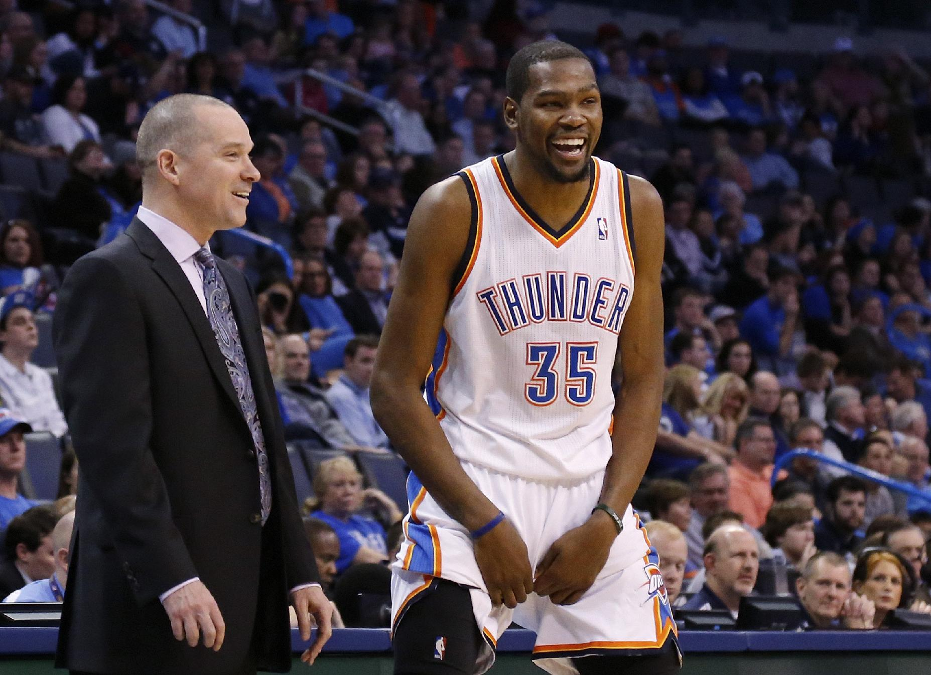 Kevin Durant on Stephen A. Smith's report that he's eyeing Lakers: 'He's lying'