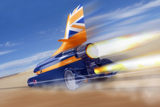 BLOODHOUND supersonic car to reach 1,000 mph (1,609 km/h)