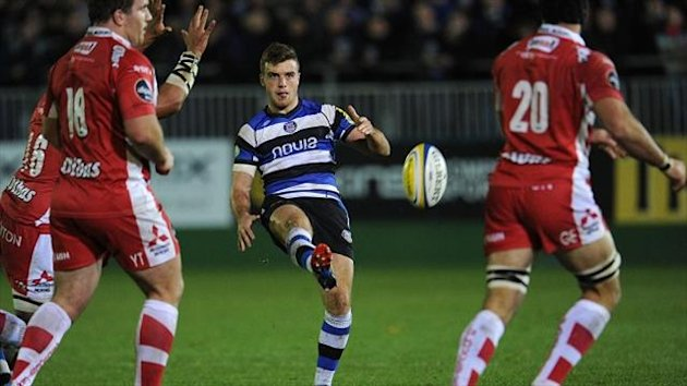 George Ford, centre, impressed for Bath