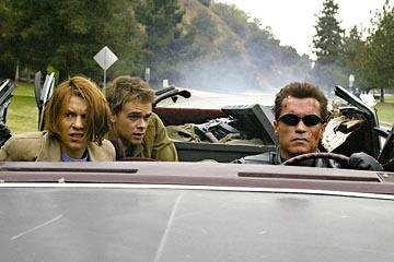 Claire Danes , Nick Stahl and Arnold Schwarzenegger in Warner Brothers' Terminator 3: Rise of the Machines