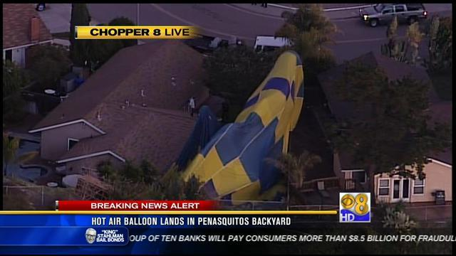 Hot air balloon crashes into Rancho Penasquitos home