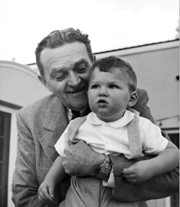 This 1952 photo shows Billie Wilkerson with his son, Willie. The son of Hollywood Reporter founder Billy Wilkerson, W.R. Wilkerson III,  is apologizing for his father's and the trade paper's role in t
