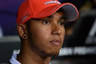 Formula One star Lewis Hamilton, seen here on September 6, revealed how his father&#39;s simple advice to &quot;never give up&quot; had stopped him quitting during dark days in his career