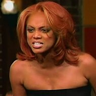 Tyra lashes out at a ANTM contestant. (Courtesy of the CW)