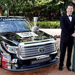 Busch accepts NCWTS Owner Champion Award