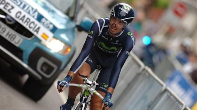 David Lopez in action for Movistar