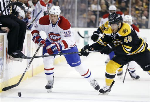Canadiens top Bruins 6-5 in shootout