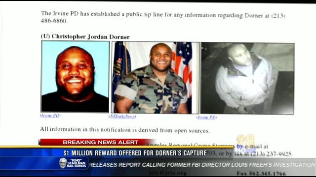 $1 million reward offered for Dorner's capture