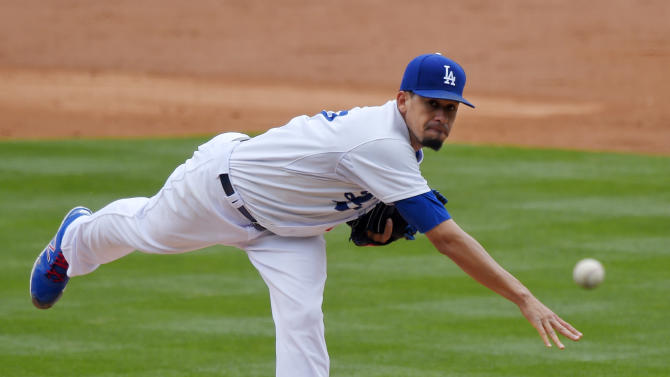 Los Angeles Dodgers relief pitcher Carlos Frias throws to the plate during the second inning of a baseball game against the San Diego Padres, Sunday, May 24, 2015, in Los Angeles. (AP Photo/Mark J. Terrill)