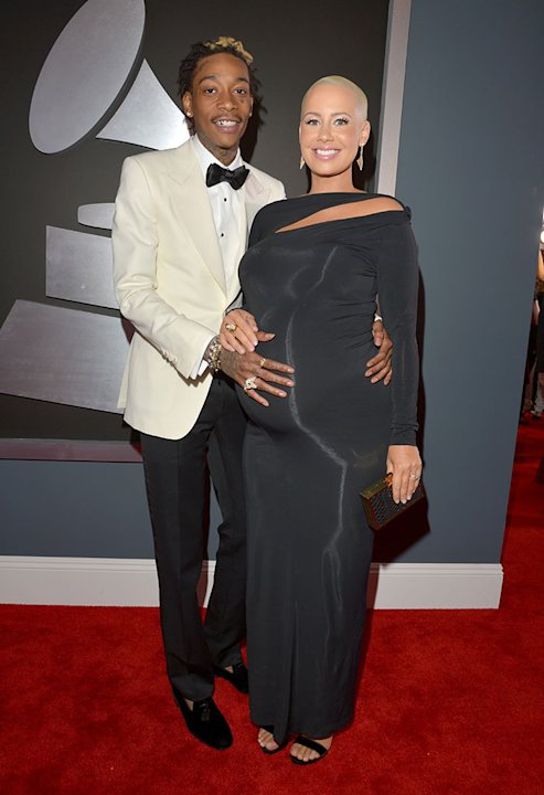 The 55th Annual GRAMMY Awards - Red Carpet: Wiz Khalifa and  Amber Rose