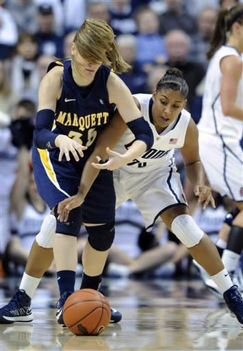 Mosqueda-Lewis leads UConn women over of Marquette