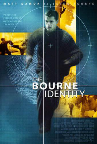 The movie poster for Universal's The Bourne Identity