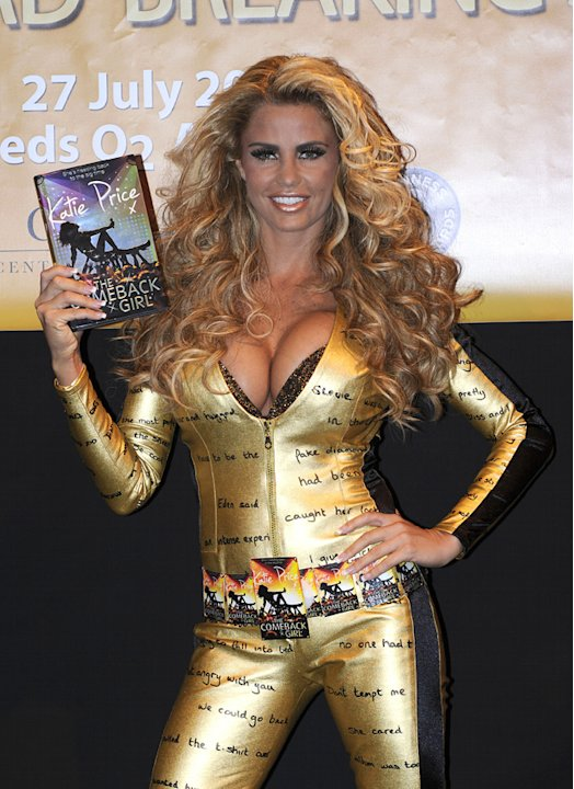 It was massive hair and a skin-tight gold catsuit for the launch of her latest novel. Well, what else were you expecting?!
