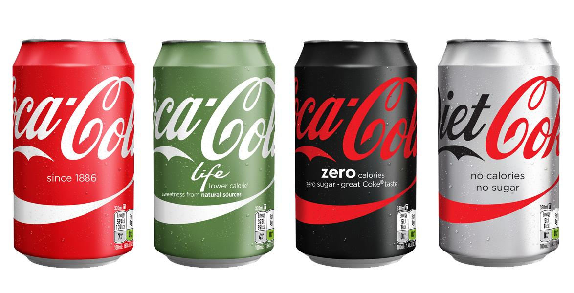 Coca-Cola is redesigning its European packaging so all of its flavors look the same