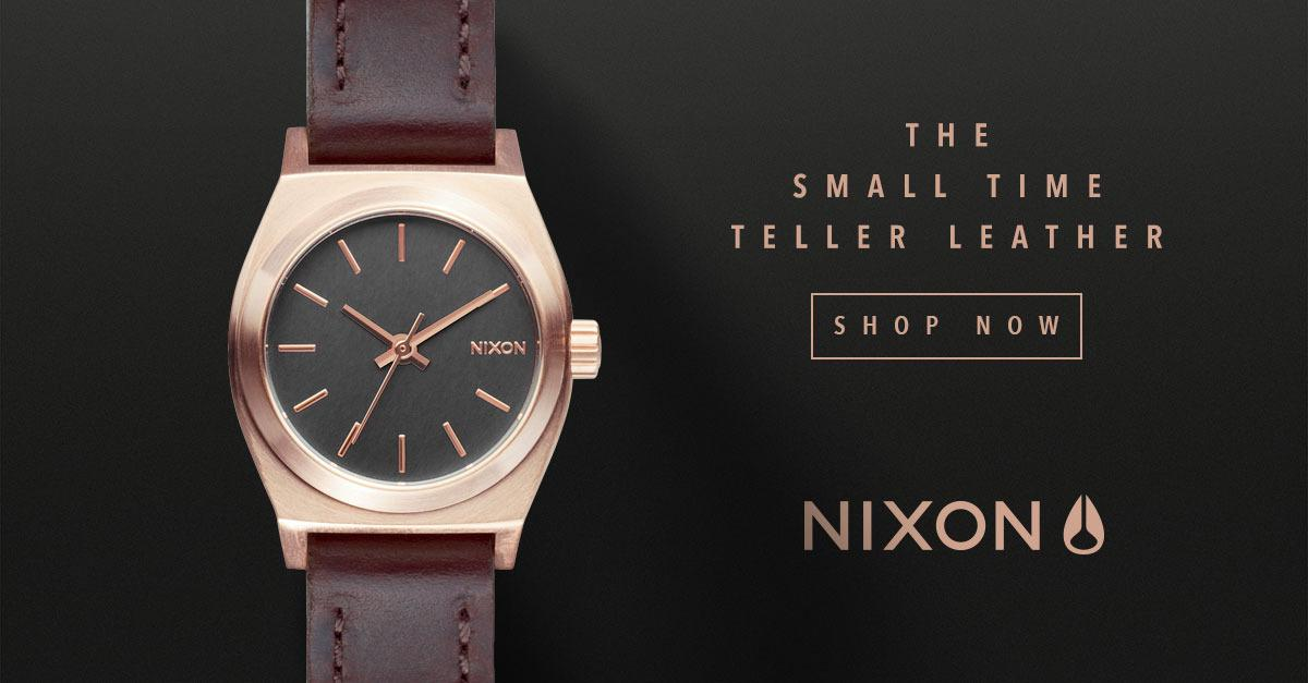 Nixon® Watches - The Small Time Teller Leather