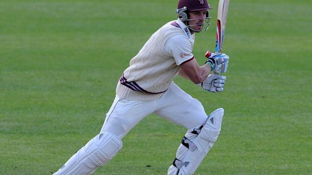 England lost Nick Compton, pictured, and Alastair Cook early on in the final Test against India