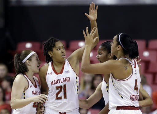 Thomas' triple double lifts Maryland to 90-40 win