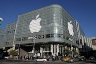 This file photo shows attendees lining up to enter the Apple World Wide Developers Conference (WWDC) at Moscone West, on June 11, in San Francisco, California. A judge has granted Apple's request for an injunction blocking US sales of Samsung Galaxy Nexus smartphones made in collaboration with Google to challenge the iPhone