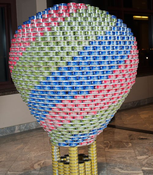Easy Canned Food Sculpture http://shine.yahoo.com/photos/canstruction ...