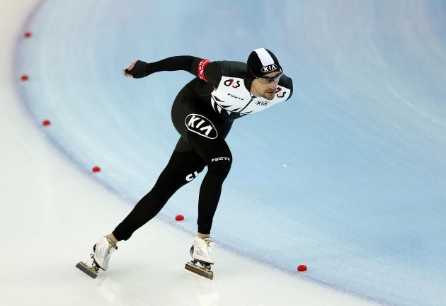 Dobbin of New Zealand competes during the men's 5000m event at the Essent ISU World Single Distances Championships 2013 in Sochi