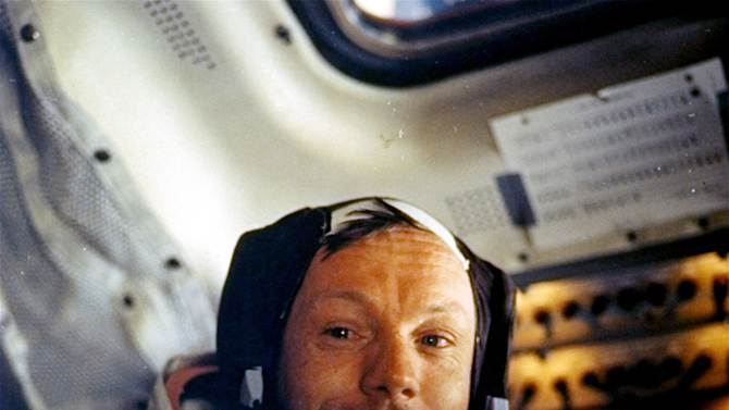 """FILE - This July 20, 1969 file photo provided by NASA shows Neil Armstrong. The family of Neil Armstrong, the first man to walk on the moon, says he died Saturday, Aug. 25, 2012, at age 82. A statement from the family says he died following complications resulting from cardiovascular procedures. It doesn't say where he died. Armstrong commanded the Apollo 11 spacecraft that landed on the moon July 20, 1969. He radioed back to Earth the historic news of """"one giant leap for mankind."""" Armstrong and fellow astronaut Edwin """"Buzz"""" Aldrin spent nearly three hours walking on the moon, collecting samples, conducting experiments and taking photographs. In all, 12 Americans walked on the moon from 1969 to 1972.  (AP Photo/NASA)"""