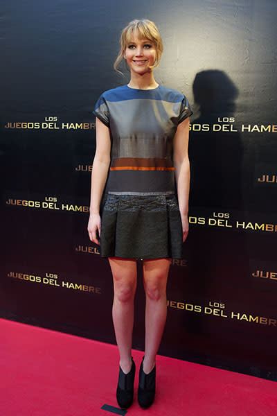"At the Madrid premier of ""The Hunger Games,"" March 2012"