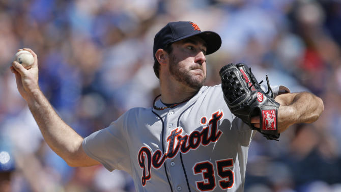 Verlander leads Tigers over Royals 9-4