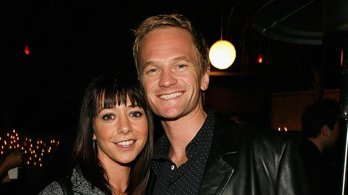 Alyson Hannigan  and Neil Patrick Harris attend the Hollywood Most Wanted Art Show hosted by Zachary Quinto. - October 5, 2007