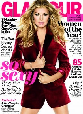 Fergie on the cover of Glamour's Women Of The Year 2010 issue -- Glamour