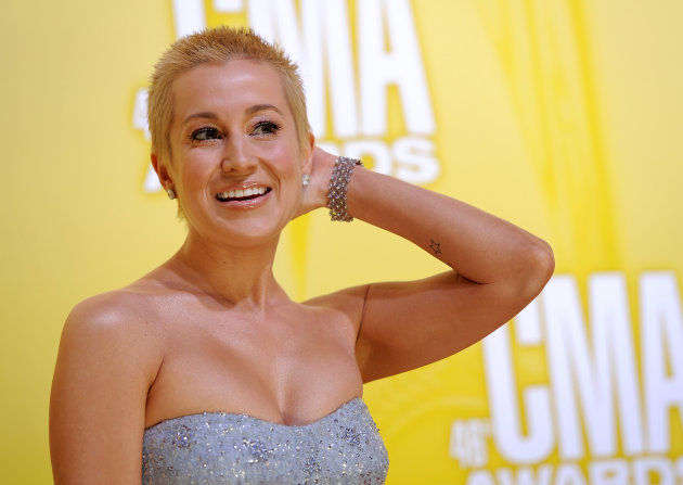 Kellie Pickler arrives at the 46th Annual Country Music Awards at the Bridgestone Arena on Thursday, Nov. 1, 2012, in Nashville, Tenn. (Photo by Chris Pizzello/Invision/AP)