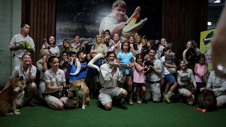 "Australia Zoo staff with the Gosselin family as seen on ""Kate Plus 8."""