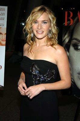 Kate Winslet at the New York premiere of Miramax Films' Finding Neverland