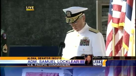 Adm. Locklear speaks at Inouye's Punchbowl service