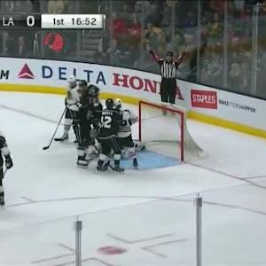 Jonathan Quick Save on Brandon Saad (03:06/1st)