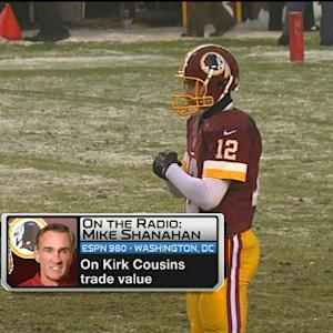 Washington Redskins head coach Mike Shanahan discusses quarterback Kirk Cousins' trade value
