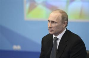 Russia's President Vladimir Putin meets with members of the Public Council for the Sochi 2014 Olympic Winter Games preparation and organization in Sochi