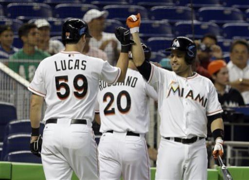 Stanton leads Marlins past Braves 6-2