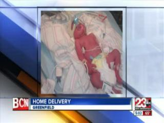 Baby born at home is third for family
