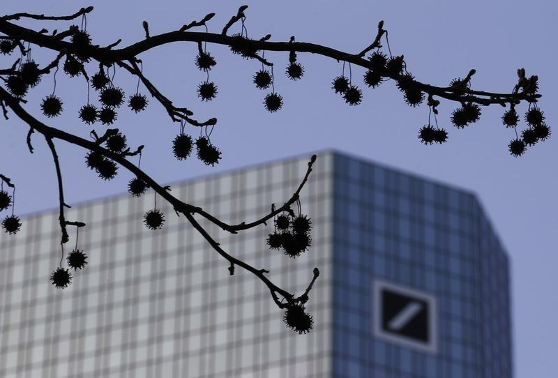 Deutsche Bank first-quarter profit falls by half as legal charges bite