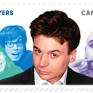 Mike Myers' Canadian Postage Stamp - David Letterman