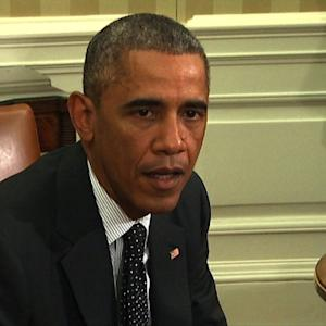 "Obama ""cautiously more optimistic"" about U.S. Ebola response"