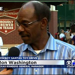 Texas Rangers' Ron Washington At Cowboy Santas