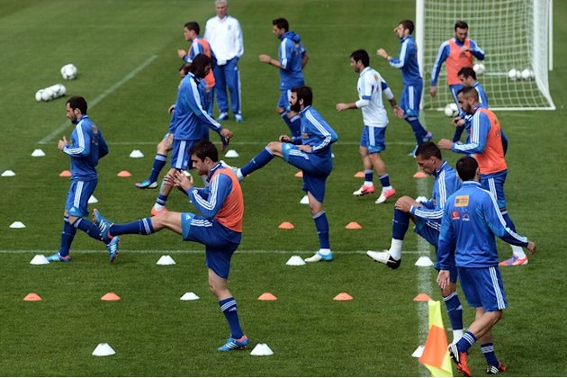 Greece's National Football Team Take Part In A Training Session At The Municipal Stadium Of Legionowo On June 20, 2012. AFP/Getty Images