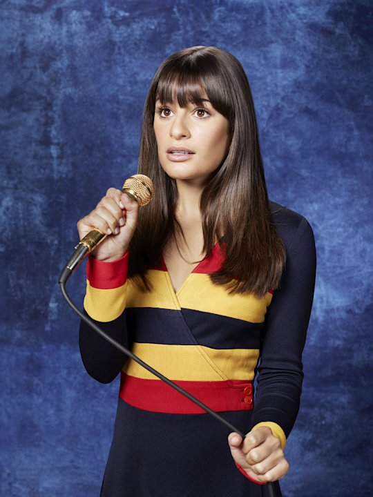 "Lea Michele returns as Rachel in ""Glee."""