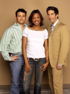 Matt LeBlanc, Aisha Tyler and David Schwimmer in NBC's Friends