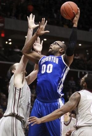 No. 19 Creighton beats Missouri State 66-65
