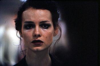 Saffron Burrows as one of the twins in The Loss Of Sexual Innocence