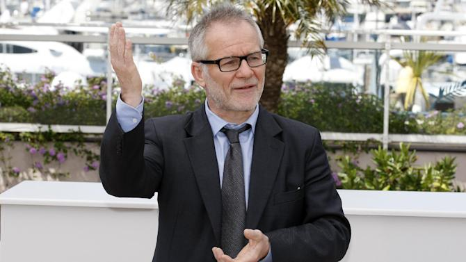 Cannes Film Festival Artistic Director Thierry Fremaux poses during a photo call for Moonrise Kingdom at the 65th international film festival, in Cannes, southern France, Wednesday, May 16, 2012. (AP Photo/Lionel Cironneau)